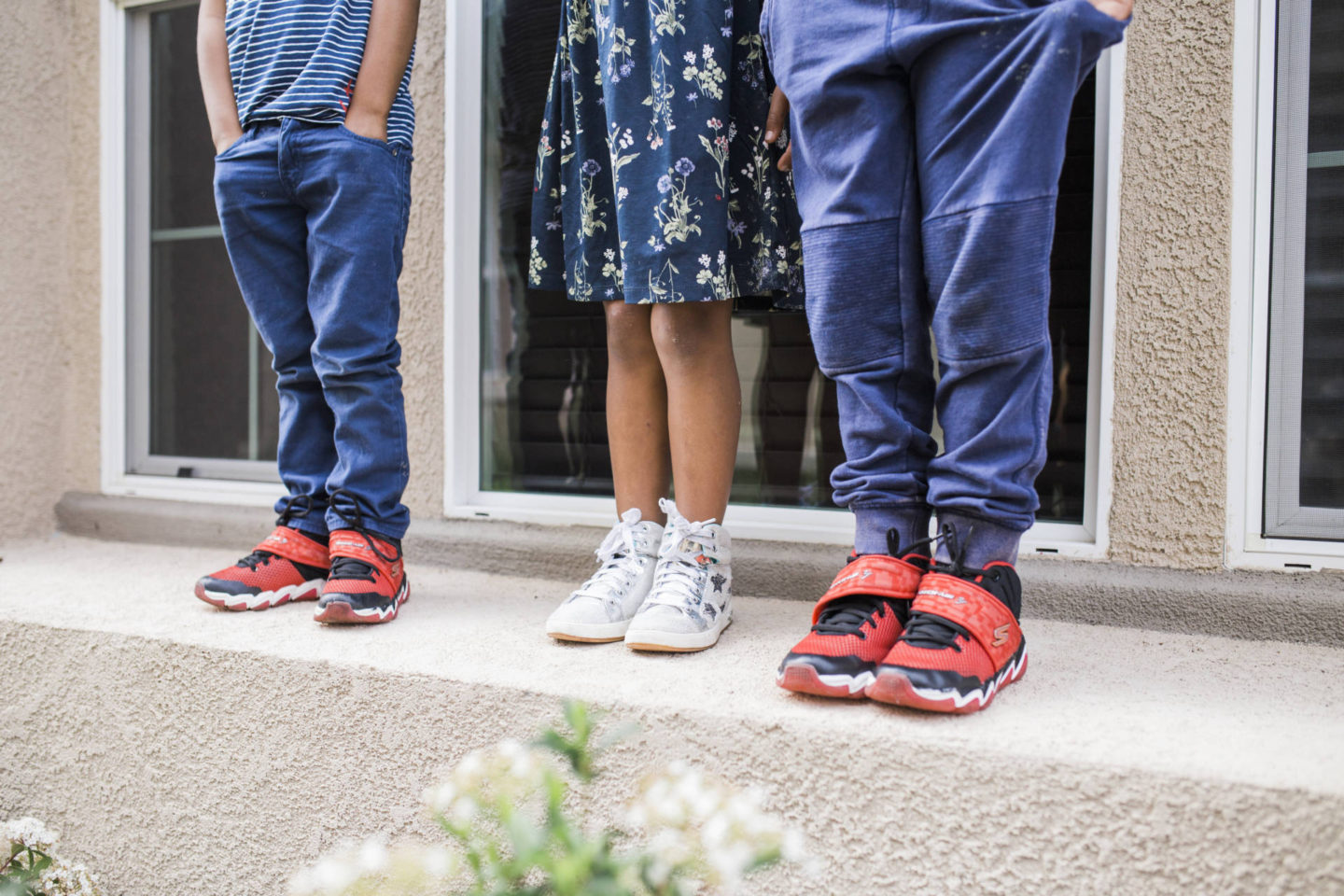 sibling-love-skechers- shoe shot
