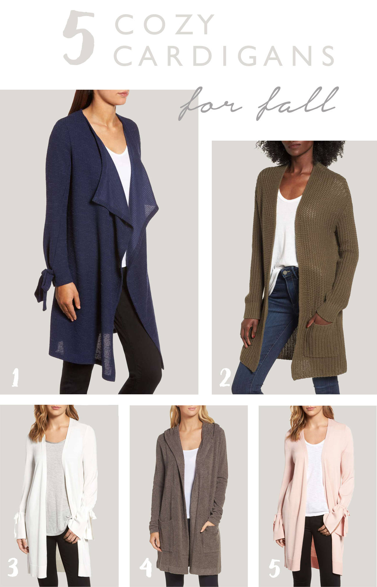 With Fall around the corner, its time to stock up on closet staples like cozy cardigans! Check out a few of my favorites here!