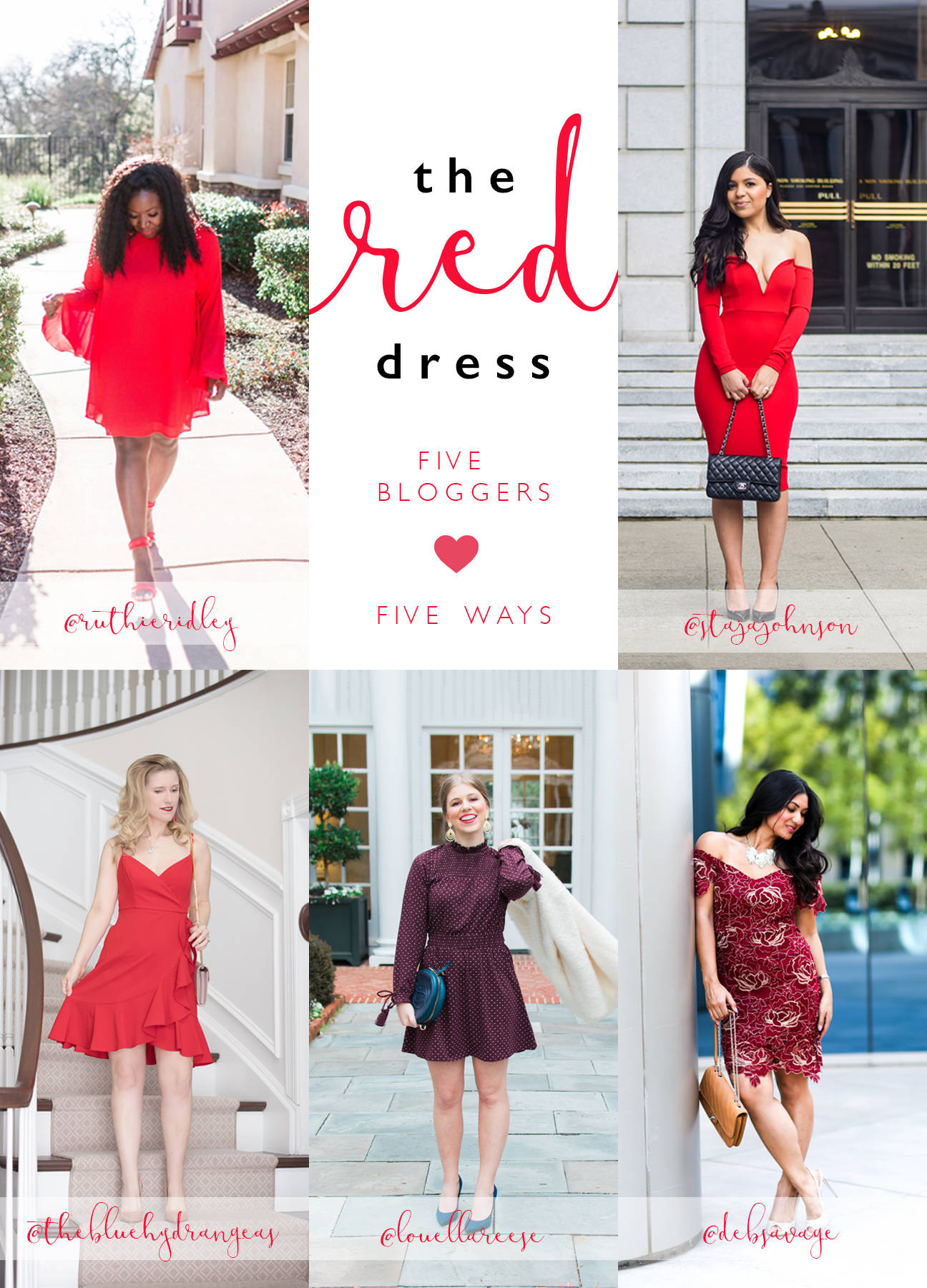 The red dress: 5 bloggers, 5 ways for Valentine's Day