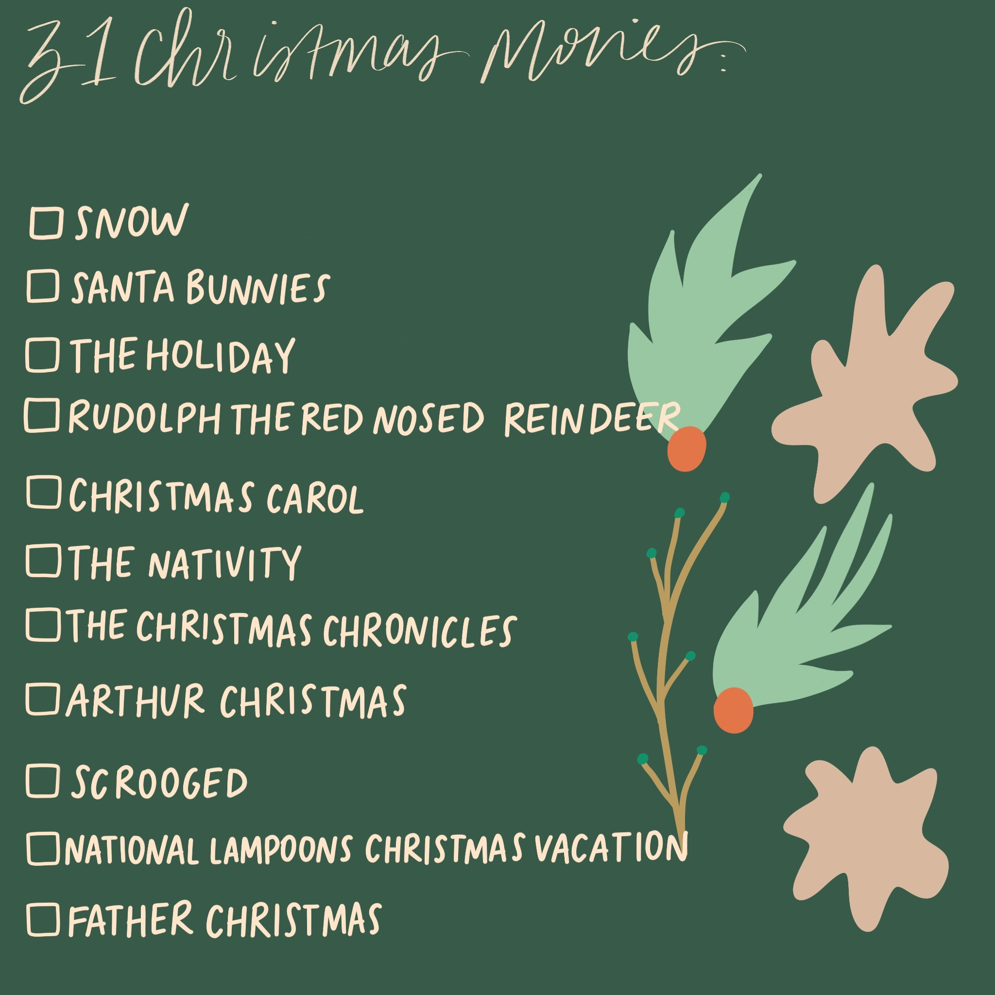 Ruthie Ridley Blog Christmas Movie List