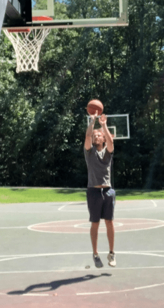 Kevin playing basketball