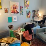 Sade doing Art with client