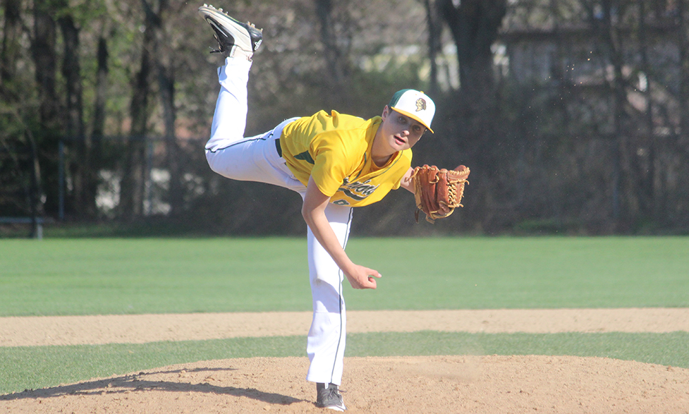 King Philip junior got the win in relief for the Warriors. (Ryan Lanigan/HockomockSports.com)