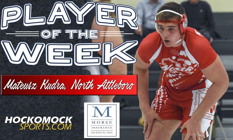 Mateusz Kudra of North Attleboro wrestling