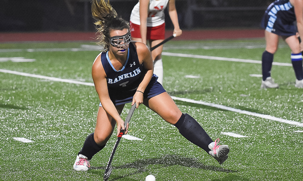 Franklin's Maeve Ledwith is one of the players to watch at the start of another competitive Hockomock League field hockey season. (Josh Perry/HockomockSports.com)