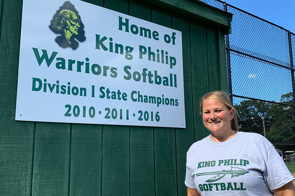 Kate Fallon-Comeau was hired as the new King Philip softball coach after nine seasons with Franklin. (Ryan Lanigan/HockomockSports.com)