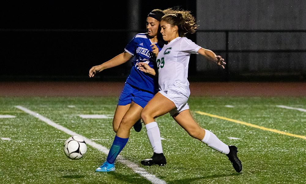 Canton girls soccer Emily McCabe