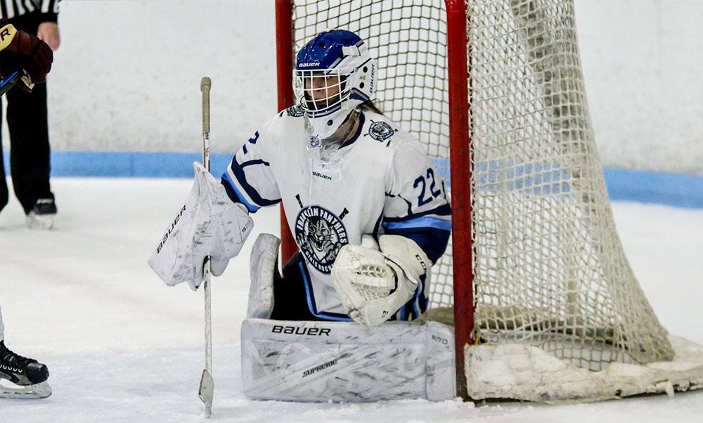 Franklin junior goalie Gabby Colace is back after an impressive sophomore season. (Ryan Lanigan/HockomockSports.com)