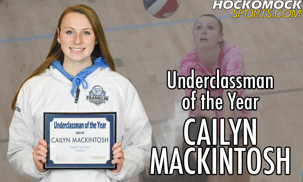Cailyn Mackintosh has been selected as the 2019 HockomockSports.com Volleyball Underclassman of the Year (HockomockSports.com photo)