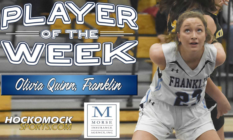 FHS' Olivia Quinn = HockomockSports.com Player of the Week