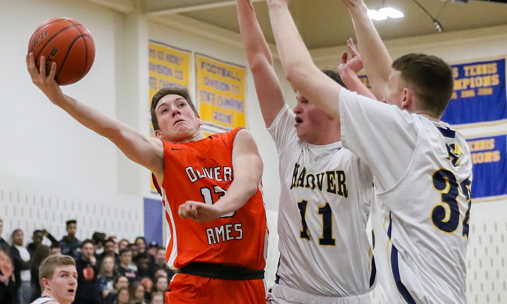 Oliver Ames boys basketball Jay Spillane
