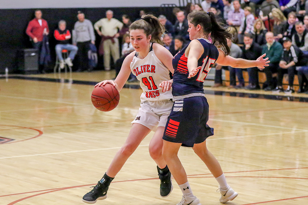 Oliver Ames girls basketball Caroline Flynn
