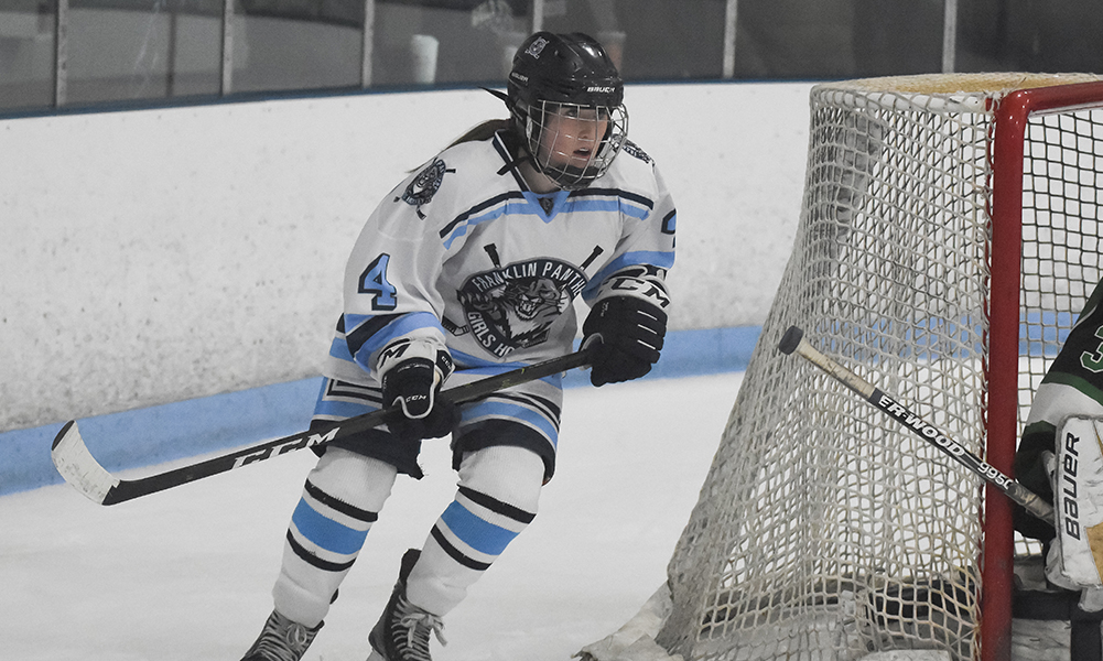 Franklin junior forward Amanda Lewandowski scored a pair of goals, as the Panthers beat 3-1 to clinch at least second place in the Hock. (Josh Perry/HockomockSports.com)