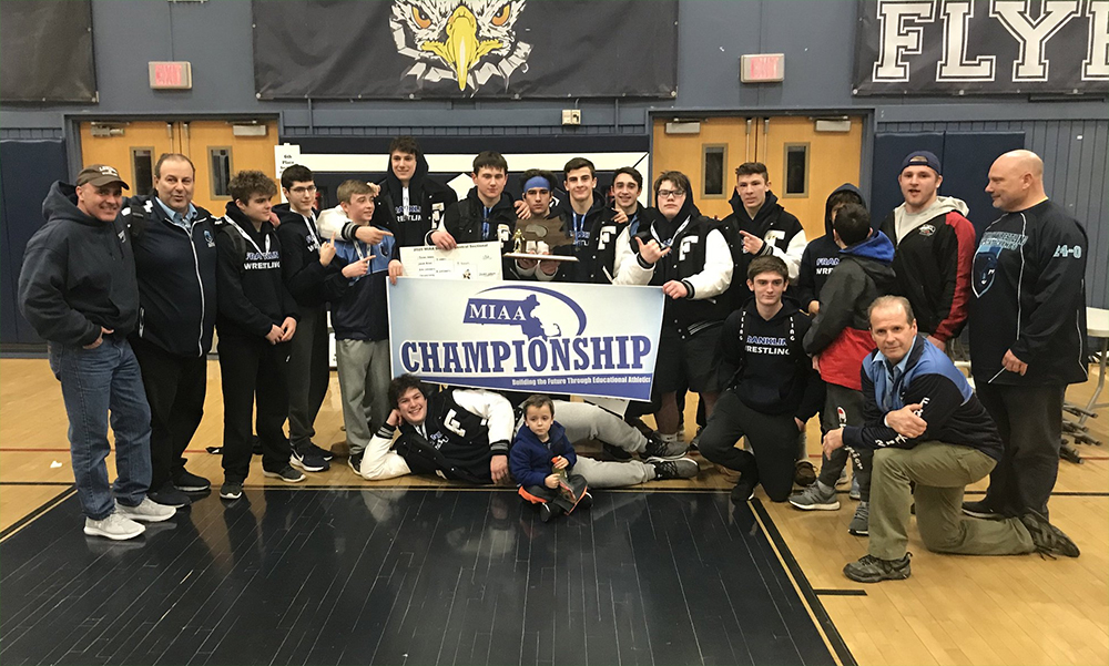 Franklin wrestling won the D1 Central Sectional championship. (Twitter/FHSWrestle)