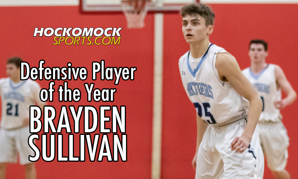 Brayden Sullivan has been named the HockomockSports.com Boys Basketball Defensive Player of the Year