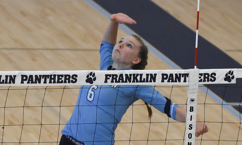 Franklin's Allyson Bonnet-Eymard will be one of the players to watch in what promises to be another competitive Hockomock League volleyball season. (Josh Perry/HockomockSports.com)