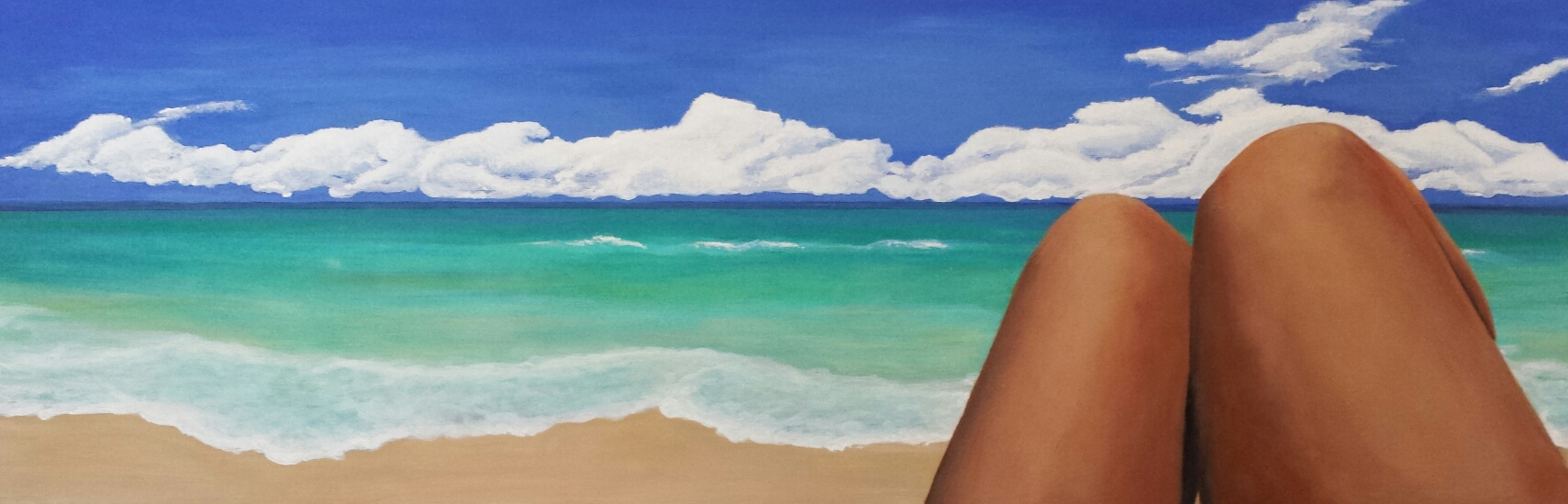"""Day at the Beach"" by Marcy Ann Villafana Fine Art"