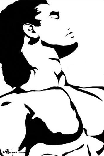 """Original Art , Male Figure in Paper """"LEON"""" by Marcy Ann Villafaña"""