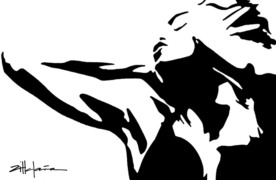 "Original Art , Female Figure in Paper ""MADONNA"" by Marcy Ann Villafaña"
