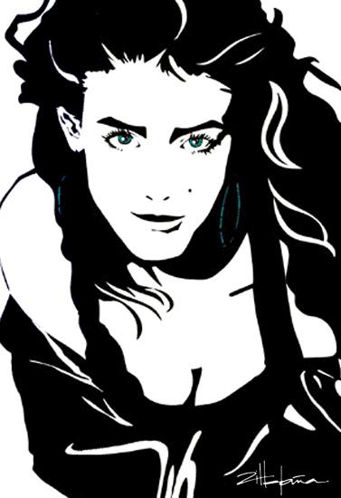 """Original Art , Female Figure in Paper """"DELAYNE"""" by Marcy Ann Villafaña"""
