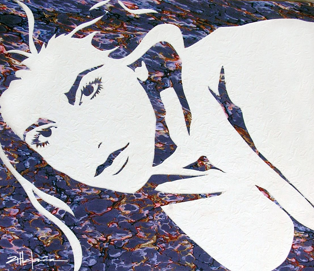"Original Art , Female Figure in Paper ""HOLLIE III"" by Marcy Ann Villafaña"