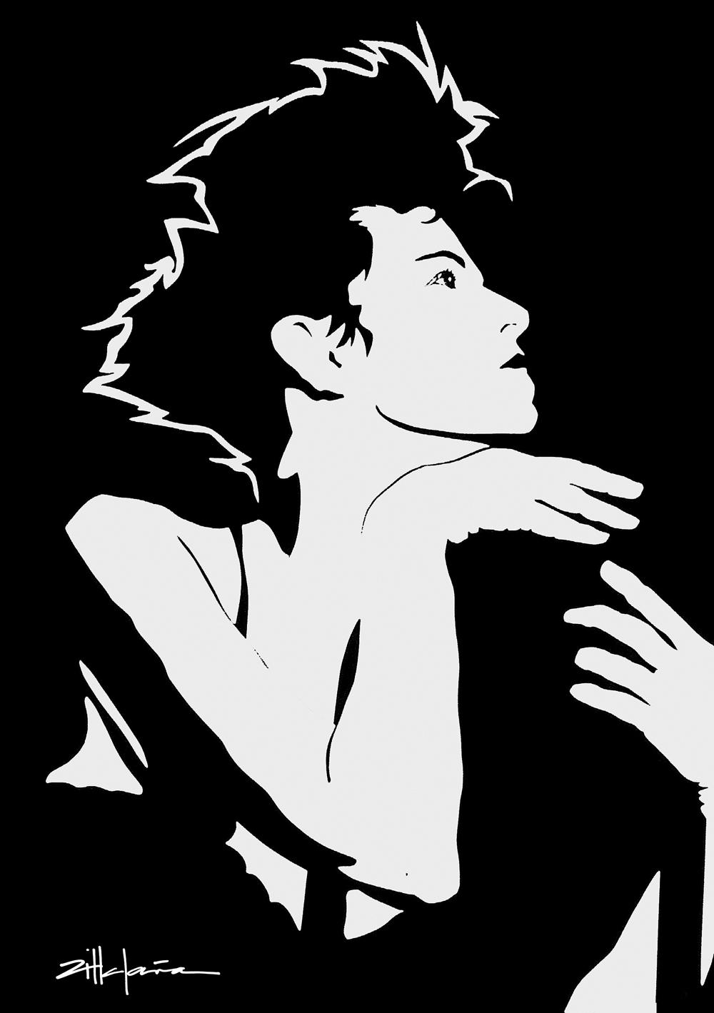 """Original Art , Female Figure in Paper Original Art , Female Figure in Paper """"KLEIN""""by Marcy Ann Villafaña """"KLEIN"""" 30"""" x 40"""" paper 1990"""