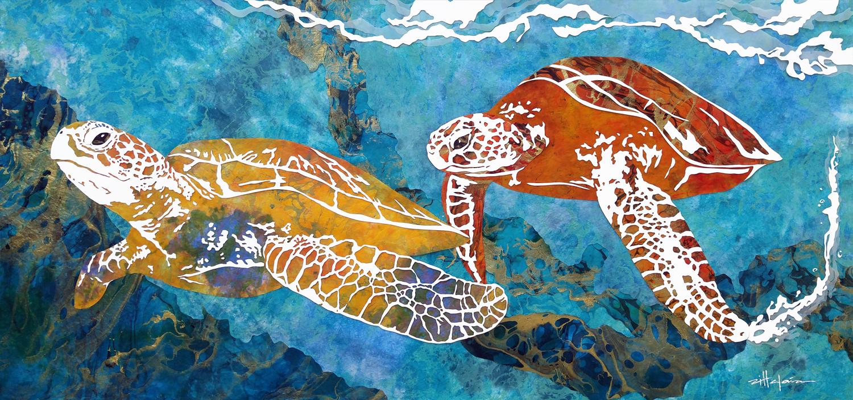 """COME ALONG WITH ME"" Ocean art by Fine Artist Marcy Ann Villafana"