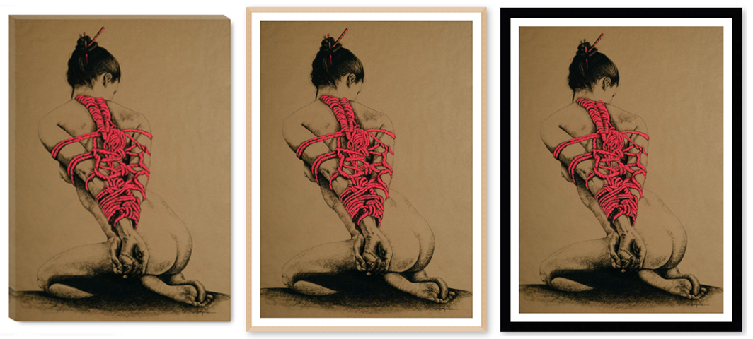 """ LADY IN RED"" print options"