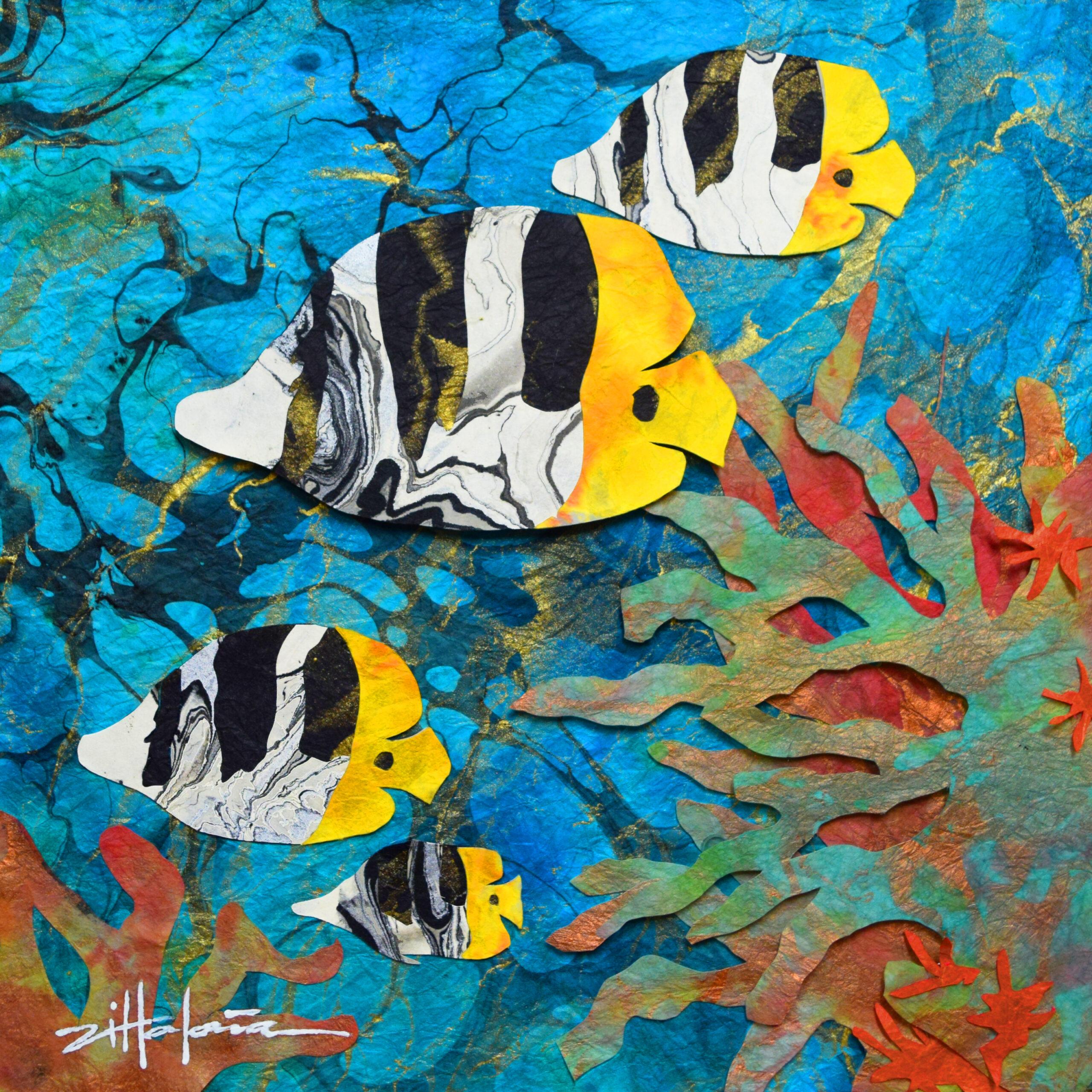 Even Butterflies Swim - Ocean Butterflies by Marcy Ann Villafana