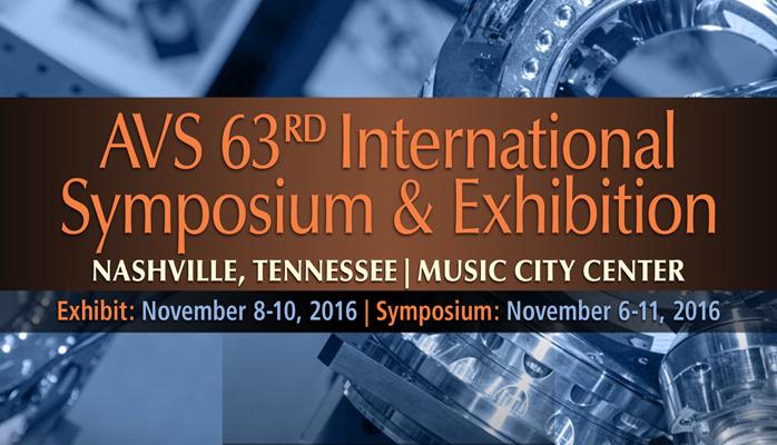 AVS 63rd International Symposium and Exhibition