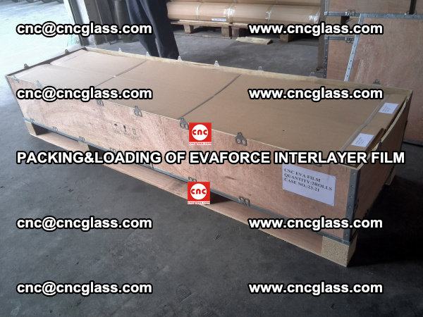 PACKING&LOADING OF EVAFORCE INTERLAYER FILM for safety laminated glass (10)