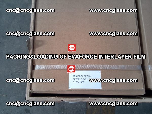 PACKING&LOADING OF EVAFORCE INTERLAYER FILM for safety laminated glass (3)