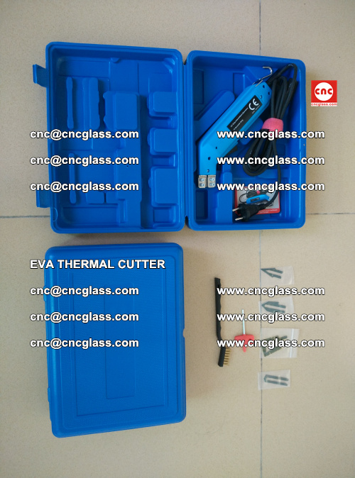 EVA THERMAL CUTTER, Cleaning EVA laminated glass edges (11)