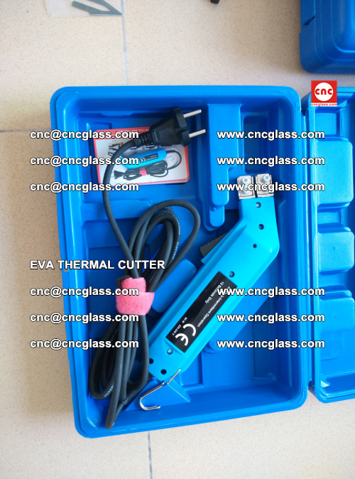 EVA THERMAL CUTTER, Cleaning EVA laminated glass edges (19)