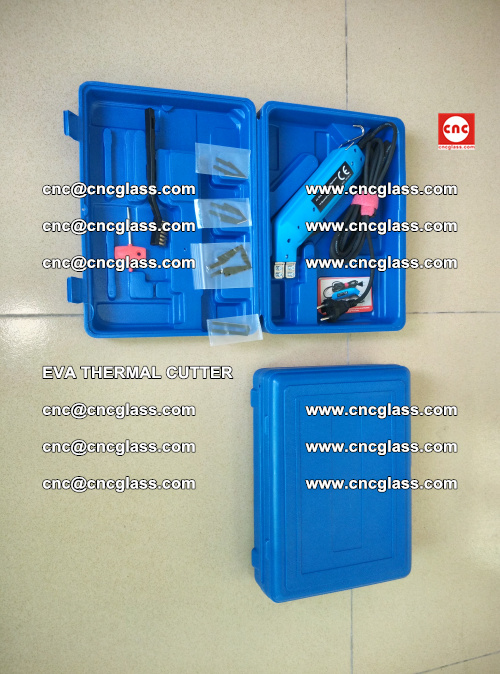EVA THERMAL CUTTER, Cleaning EVA laminated glass edges (2)
