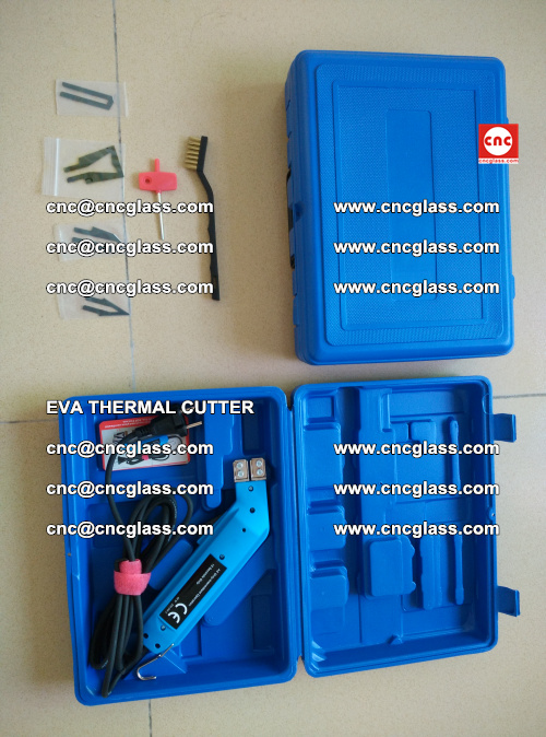 EVA THERMAL CUTTER, Cleaning EVA laminated glass edges (20)