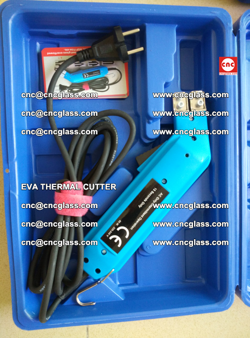 EVA THERMAL CUTTER, Cleaning EVA laminated glass edges (23)