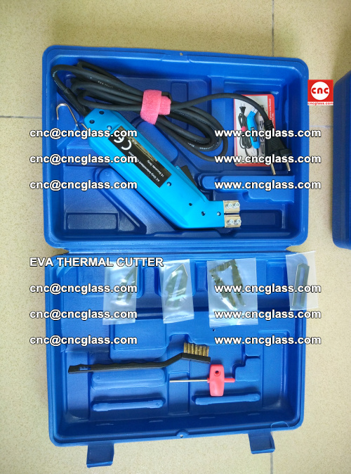 EVA THERMAL CUTTER, Cleaning EVA laminated glass edges (5)