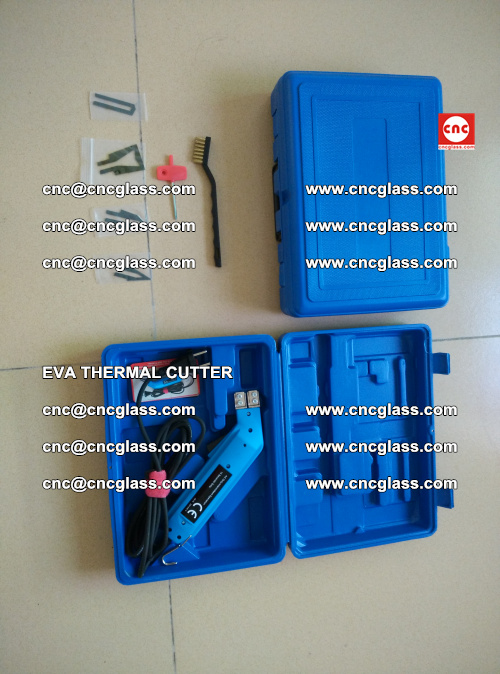 EVA THERMAL CUTTER, Cleaning EVA laminated glass edges (6)