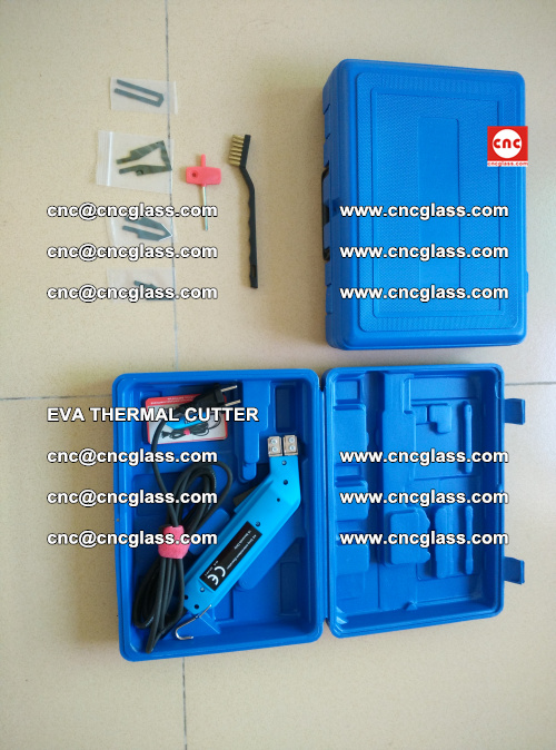 EVA THERMAL CUTTER, Cleaning EVA laminated glass edges (7)