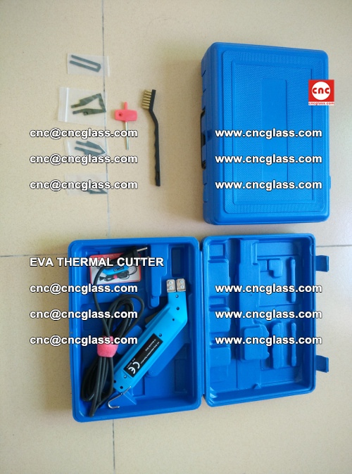 EVA THERMAL CUTTER, Cleaning EVA laminated glass edges (8)