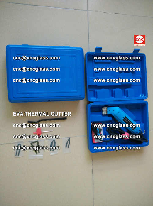 EVA THERMAL CUTTER, Cleaning EVA laminated glass edges (9)