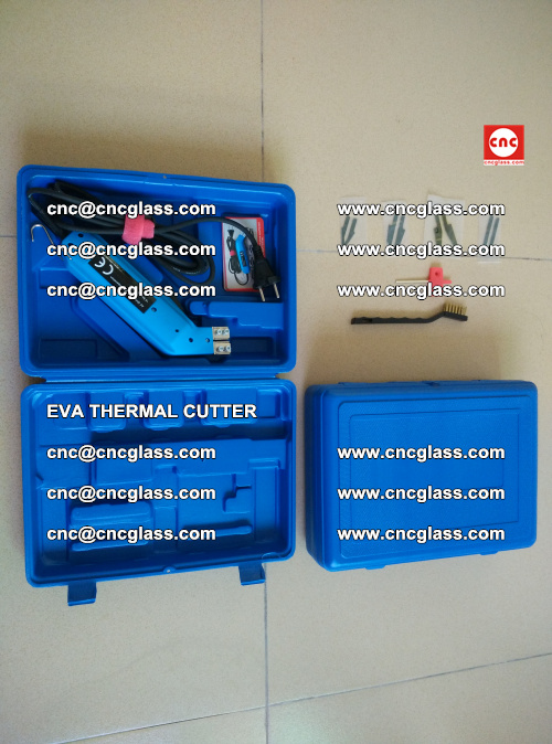 EVA THERMAL CUTTER, Cleaning EVA laminated glass edges (12)