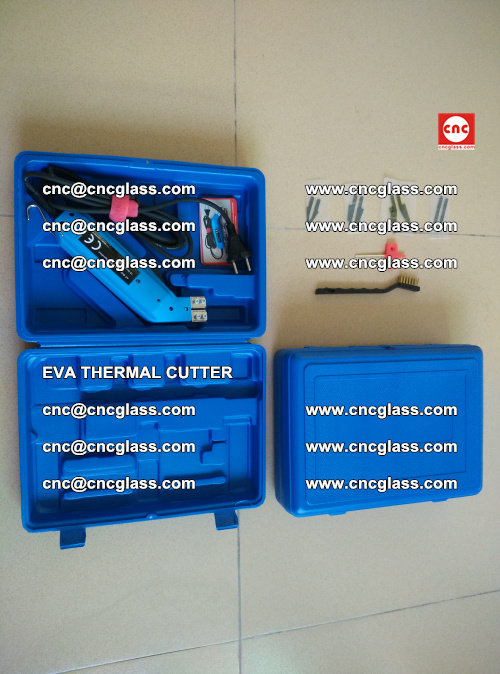 EVA THERMAL CUTTER, Cleaning EVA laminated glass edges (13)
