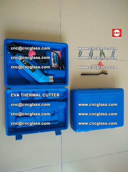 EVA THERMAL CUTTER, Cleaning EVA laminated glass edges (14)