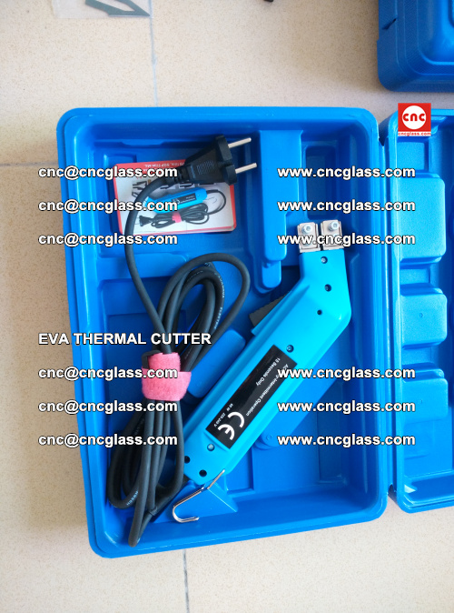 EVA THERMAL CUTTER, Cleaning EVA laminated glass edges (17)