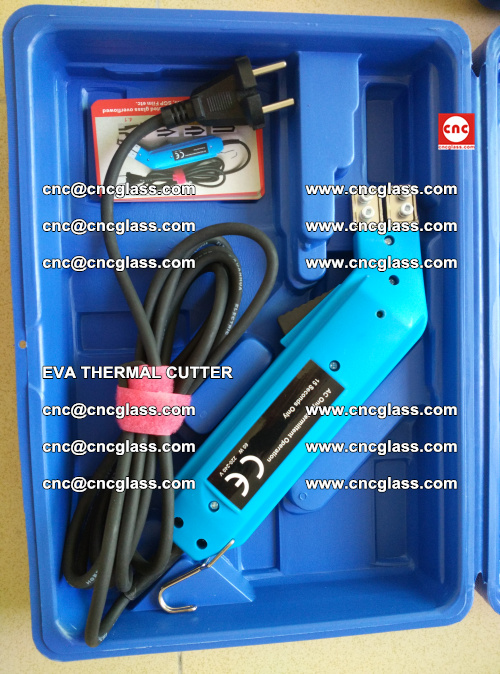 EVA THERMAL CUTTER, Cleaning EVA laminated glass edges (22)