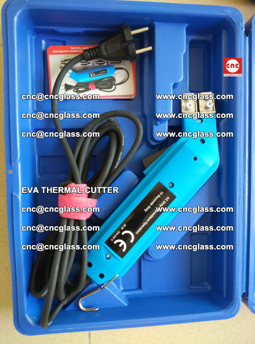 EVA THERMAL CUTTER, Cleaning EVA laminated glass edges (24)