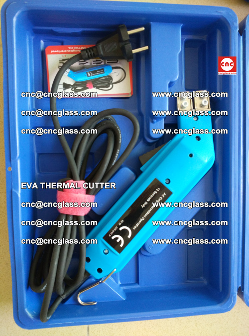 EVA THERMAL CUTTER, Cleaning EVA laminated glass edges (25)