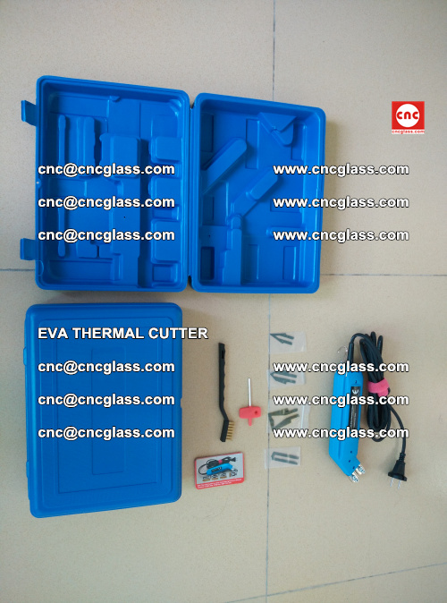 EVA THERMAL CUTTER, Cleaning EVA laminated glass edges (34)